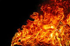 Fire flames burning stock photography