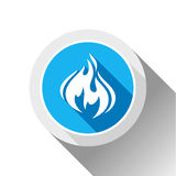 Fire flames, button Royalty Free Stock Photo