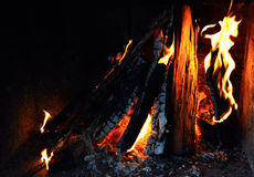 Fire Flames. Chimney Fire Flames in home royalty free stock photo