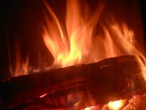 Fire. Flames close up photo Royalty Free Stock Photos