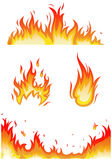 Fire flames - collage. Vector set: fire flames - collage Royalty Free Stock Images