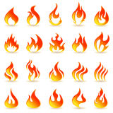 Fire flames. Royalty Free Stock Images