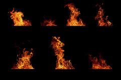 Fire flames collcetion Royalty Free Stock Photography