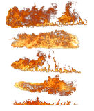 Fire flames collection Royalty Free Stock Photo