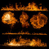 Fire flames collection Royalty Free Stock Image