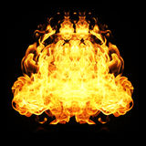 Fire flames collection isolated on black background Stock Photography