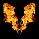 Fire flames collection isolated on black background Royalty Free Stock Images