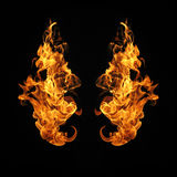 Fire flames collection isolated on black background. Fire flames collection isolated on black background royalty free stock photography
