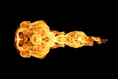 Fire flames collection isolated on black. Background royalty free stock photography