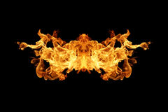 Fire flames collection isolated on black. Background Royalty Free Stock Photos