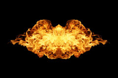 Fire flames collection isolated on black. Background Stock Image