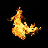 Fire flames collection isolated on black background. Fire flames collection isolated on black background stock image