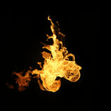 Fire flames collection isolated on black background. Fire flames collection isolated on black background stock photography