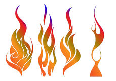 Fire flames. Different fire flames with editable file stock illustration