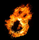 Fire flames face Royalty Free Stock Photo