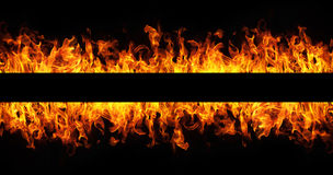 Fire flames frame Stock Image