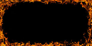 Fire flames frame Stock Photography
