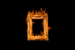 Fire flames frame Royalty Free Stock Photography