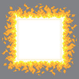 Fire flames. Frame of vector tongues of fire Stock Photo
