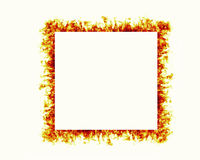 Fire flames frame Stock Photo