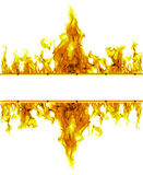 Fire flames frame on white background Royalty Free Stock Image