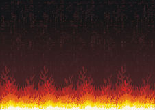 Fire flames grunge background. Fire Flames illustration over grunge background Royalty Free Stock Images