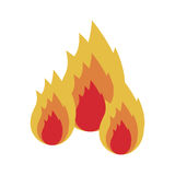Fire flames icon. Fire flames burning icon over white background. vector illustration Royalty Free Stock Photo