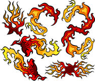 Fire and Flames Icon Ilustrations. Images of Swirling Fire and Flames Images Royalty Free Stock Photography