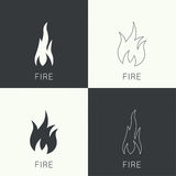 Fire flames. Icon. Royalty Free Stock Photo