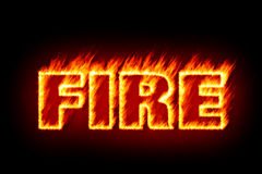 Fire in flames Stock Photos