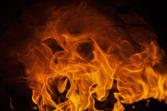Fire and flames with imaginative abstract shape Stock Photo