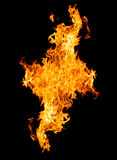Fire flames - isolated on black background Royalty Free Stock Photo