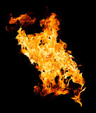 Fire flames - isolated on black background Royalty Free Stock Photos