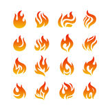 Fire flames. Isolated on white background Stock Photography