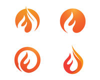 Fire flames Logo template Royalty Free Stock Photos