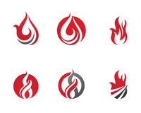 Fire flames Logo template Royalty Free Stock Photos