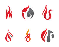 Fire flames Logo template Stock Image