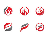 Fire flames Logo template Royalty Free Stock Image