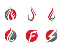 Fire flames Logo template Stock Photo