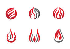 Fire flames Logo template Stock Photos