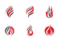 Fire flames Logo template Royalty Free Stock Photography