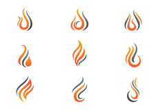 Fire flames Logo template Stock Photography