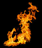 Fire Flames On Black Royalty Free Stock Images