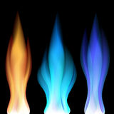 Fire flames over black Royalty Free Stock Image