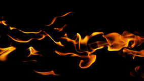 Fire flames. A picture of a fire flames in black background Royalty Free Stock Photo