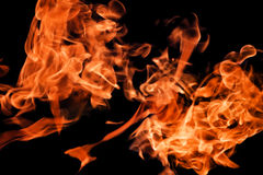 Fire flames raising high Royalty Free Stock Image