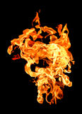 Fire flames raising high Royalty Free Stock Images