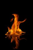Fire flames reflected in water Royalty Free Stock Photos