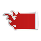Fire flames shape blank red emblem icon image. Illustration design Stock Photography