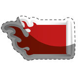 Fire flames shape blank red emblem icon image. Illustration design Royalty Free Stock Images